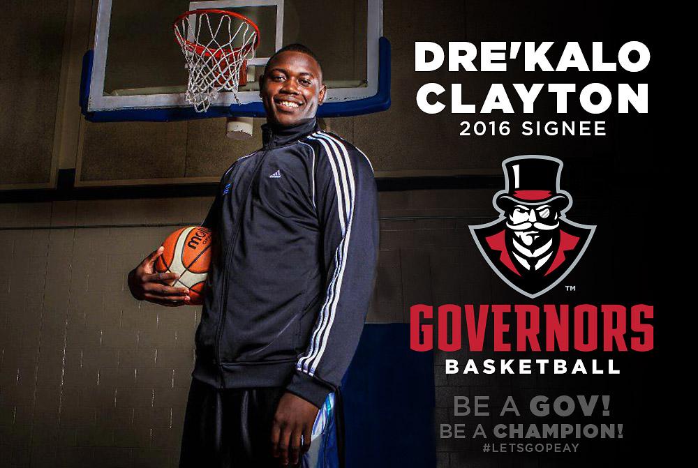 Dre'Kalo Clayton joins APSU Governors Basketball for 2016-17 season