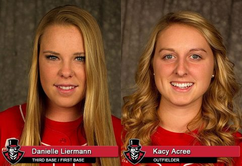 APSU's Danielle Liermann and Kacy Acree
