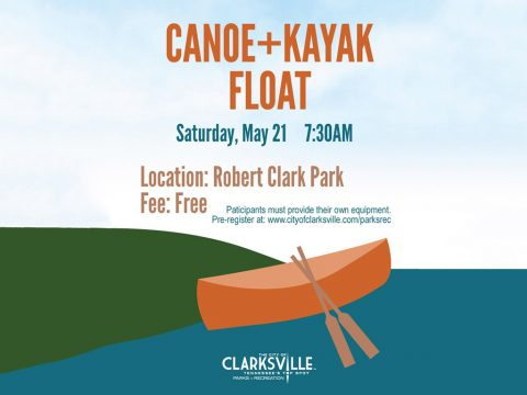 Clarksville Parks and Recreation to hold Canoe + Kayak Float on May 21st