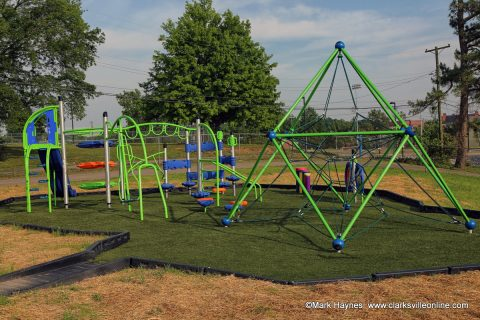 New playground at Edith Pettus Park.
