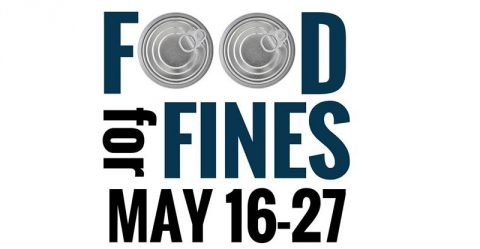 Clarksville-Montgomery County Public Library is bring back its Food for Fines to be held May 16th-27th, 2016.