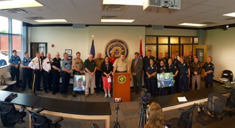Hands Across the Border press event