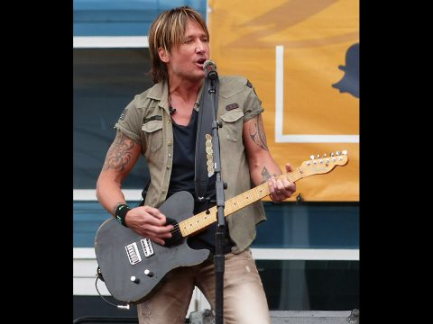 Keith Urban plays a free show in Nashville on May 9th, 2016. (Richard J. Lynch)