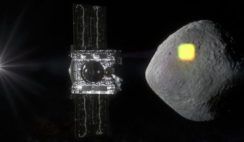 The mapping of the near-Earth asteroid Bennu is one of the science goals of NASA's OSIRIS-REx mission, and an integral part of spacecraft operations. The spacecraft will spend a year surveying Bennu before collecting a sample that will be returned to Earth for analysis. (NASA/Goddard/University of Arizona)