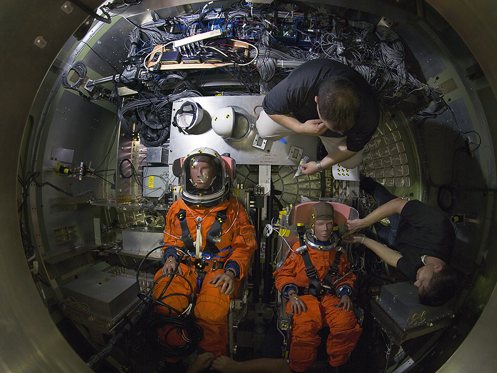 NASA tests Orion Capsule with Crash Test Dummies ...