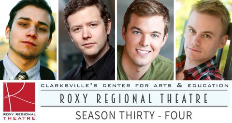 "(L to R) ""Oliver Pierce, Marek Sapieyevski, Stephen Shore and Nick Abbott star as a famous '50s foursome in the opener of the Roxy Regional Theatre's 34th season, to be announced at ""Happenin' at the Hollemans"" on Monday, May 23rd."""