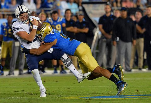 UCLA Bruins linebacker Aaron Wallace (51) was taken by the Tennessee Titans with the 222nd overall pick of the NFL Draft. (Jayne Kamin-Oncea-USA TODAY Sports)