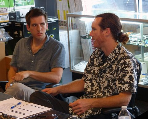 Ben Bishop and Paul Freeman plot new course for N.U.F.F. in Nashville. (Richard J. Lynch)