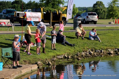 The annual TWRA Youth Fishing Rodeo at the Liberty Park Pond.