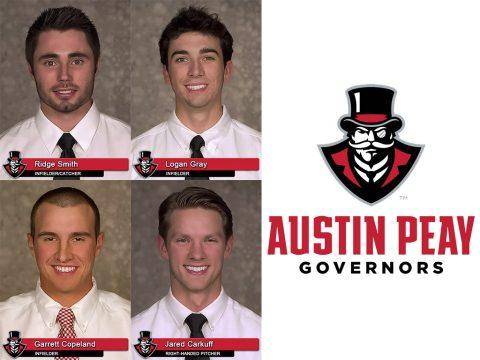 APSU Baseball's Ridge Smith, Logan Gray, Garrett Copeland and Jared Carkuff