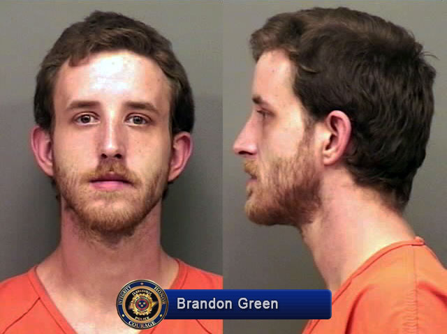Clarksville Police reports Brandon Green in Custody - Clarksville