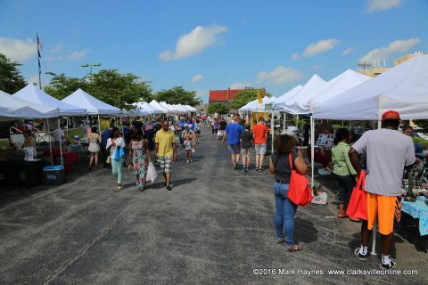 Award-winning Saturday event, Clarksville Downtown Market, to open season May 25th, 2019.