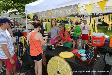 The Not Just Lemonade stand at the Clarksville Downtown Market.