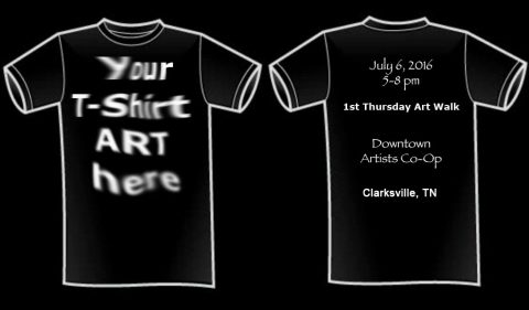Downtown Artists Co-op's 1st Annual T-Shirt Design Contest and Exhibition happens July 7th