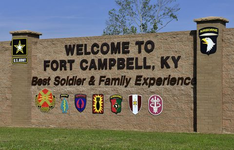 "Fort Campbell Kentucky. Fort Campbell is home to the 101st Airborne Division (Air Assault) ""Screaming Eagles"". (U.S. Army Photo by Sam Shore/Released)"