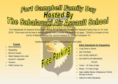 Fort Campbell to host Family Day June 10th