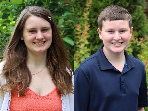 (L to R) Hannah Motes and Sebastian Motes.