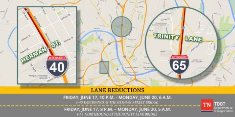 High-Impact Interstate Lane Closures in Nashville This Weekend