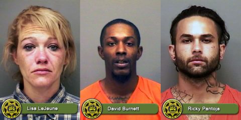 Lisa LeJeune, David Burnett, and Ricky Pantoja are wanted by Montgomery County Sheriff's Office for outstanding warrants.