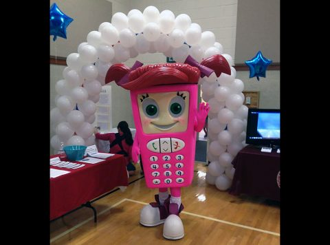 Montgomery County 911 Center mascot Cell Phone Sally.