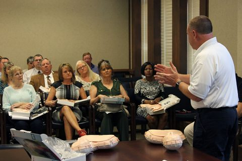 CPR Training being conducted for Montgomery County Government employees.