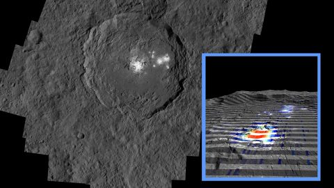 The center of Ceres' mysterious Occator Crater is the brightest area on the dwarf planet. (NASA/JPL-Caltech/UCLA/MPS/DLR/IDA/ASI/INAF)