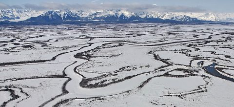 Even after the ground surface freezes in the fall, Alaskan soils can continue to emit carbon. (NOAA/Mandy Lindeberg)