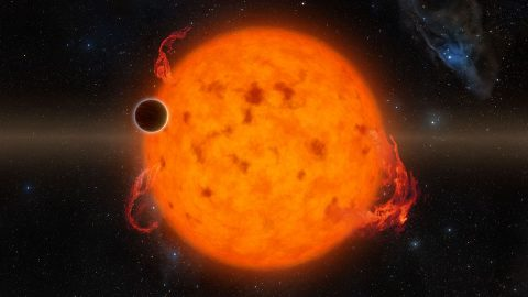 K2-33b, shown in this illustration, is one of the youngest exoplanets detected to date. (NASA/JPL-Caltech)