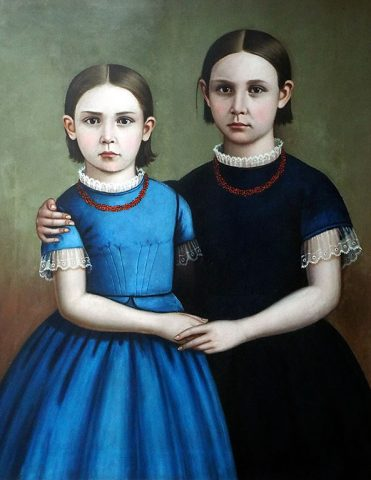 Portrait Of Two Girls by William Stamms Shackelford