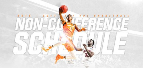 2016-2017 Tennessee Lady Vols Basketball Non-Conference Schedule