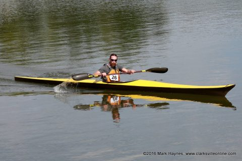 Tim Schramm came in first in the Advanced (Singles) Division and also had the best time of the race.