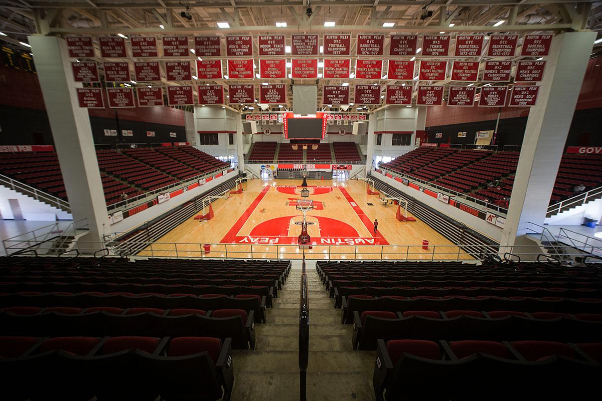Austin Peay State University's Dunn Center court. (Taylor Slifko, APSU)