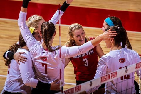 Austin Peay State University Volleyball team earns American Volleyball Coaches Association's Team Academic Award. (APSU Sports Information)