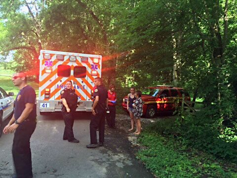 Two females were rescued from a riverbank behind Nussbaumer Road.