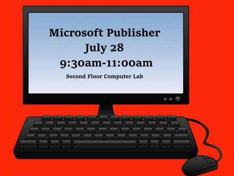 Microsoft Publisher class to be held at Clarksville-Montgomery County Library July 28th, 2016.