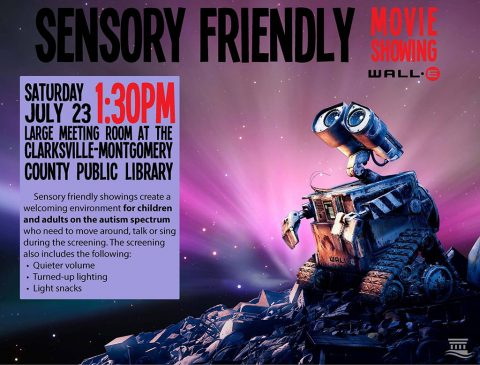 Clarksville-Montgomery County Public Library to hold Sensory Friendly showing of Disney's Wall-E