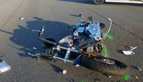 2002 Harley Davidson motorcycle driven by the victim.