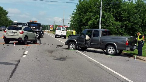 Three vehicle accident on Tiny Town Road this morning.