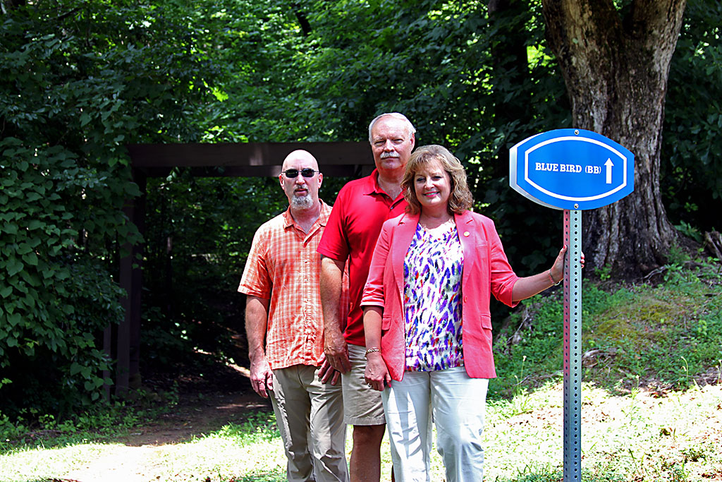 (L to R) Friends of Rotary President Stacey Gray, Montgomery County Parks Director Jerry Allbert and Rotarian Betty Burchett.
