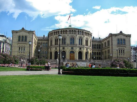 Parliament in Oslo, Norway. (Sean Hogan)