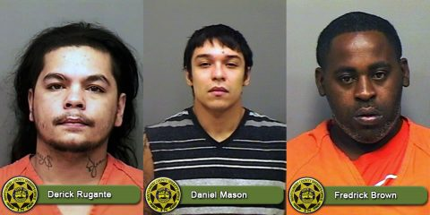 Montgomery County Sheriff's Office is looking for Derek Michael Rugante, Daniel James Mason, and Fredrick Earl Brown