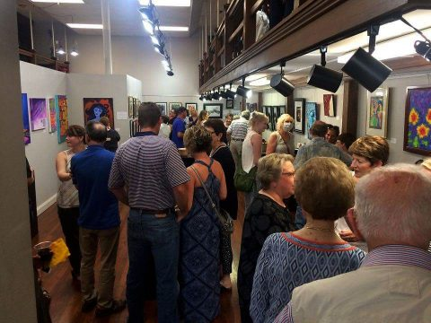 First Thursday Art Walk in downtown Clarksville