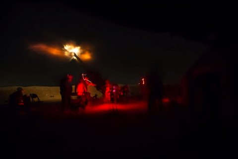 U.S. Soldiers assigned to 1st Battalion, 320 field Artillery Regiment, 2nd Brigade Combat Team, 101st Airborne Division (Air Assault) fire an M777 howitzer from Kara Soar Base, Iraq, during a night operation in support of the Iraqi Army June 3, 2016. Fire missions are one way the Coalition enables the Iraqi Army to defeat the Islamic State of Iraq and the Levant. (U.S. Army Photo by Spc. Jaquan P. Turnbow)