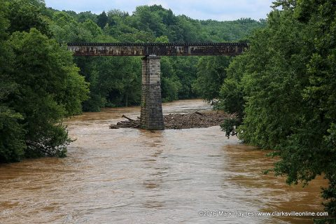 Red River during recent flooding.