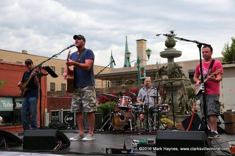 The Joel Brown Band playing at Jammin in the Alley Friday night.