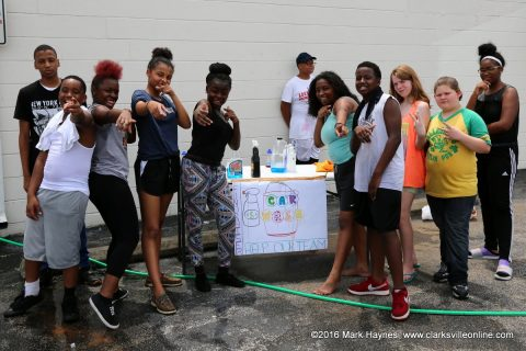 LEAP Youth that participated in the Car Wash and Bake Sale.