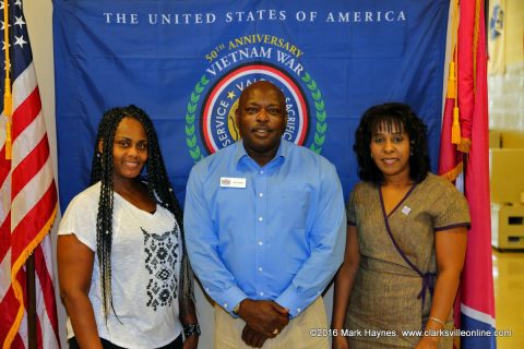 (L to R) Evelyn Adams, Willie Celestine, and Rhonda Clemmer, employees of Operation Stand Down Tennessee in Clarksville.