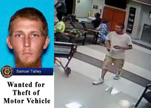 Samuel Wayne Talley is wanted by Clarksville Police for Theft of Motor Vehicle.