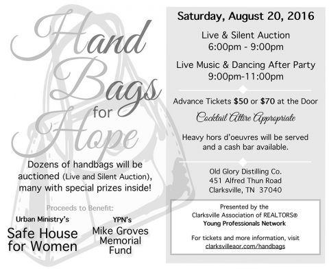 Clarksville Association of Realtors 3rd Annual Handbags For Hope