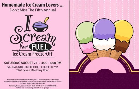 Sixth annual I Scream for FUEL, Ice Cream Freeze-Off
